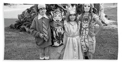 Four Girls In Halloween Costumes, 1971, Part One Hand Towel
