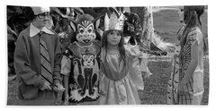 Four Girls In Halloween Costumes, 1971, Part Two Bath Towel