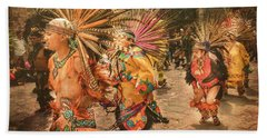 Four Indian Dancers Hand Towel