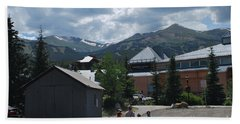 Four Little Children Safe In A Big Beautiful World Telluride Colorado Hand Towel by Heather Kirk