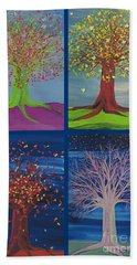 Four Seasons Trees By Jrr Bath Towel