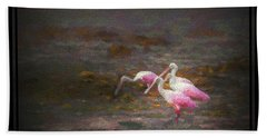 Four Spoons On The Marsh Hand Towel by Marvin Spates