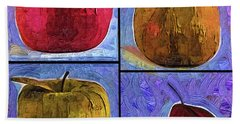 Four Square Fruit Hand Towel by Kirt Tisdale
