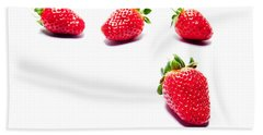 Four Strawberries Hand Towel