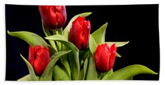 Four Tulips Bath Towel
