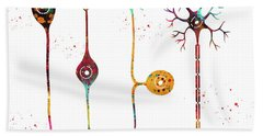 Four Types Of Neurons Bath Towel