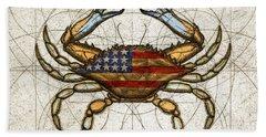 Fourth Of July Crab Bath Towel