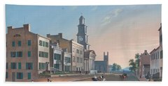 Bath Towel featuring the painting Fourth Street. West From Vine by John Caspar Wild