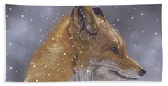 Fox In A Flurry Hand Towel
