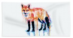 Fox  Hand Towel by Marian Voicu