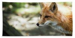 Fox Profile Hand Towel by Lisa L Silva