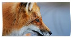 Fox Profile Bath Towel by Mircea Costina Photography