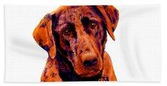 Fox Red Labrador Painting Bath Towel