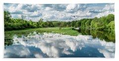 Fox River Hand Towel by Randy Scherkenbach