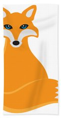 Hand Towel featuring the digital art Fox Sitting Illustration by Jit Lim