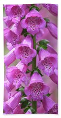 Bath Towel featuring the photograph Foxglove Flowers by Edward Fielding