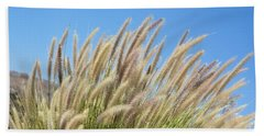 Foxtails On A Hill Bath Towel