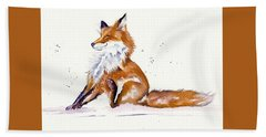 Foxy Flea Magnet Bath Towel