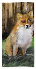Foxy Lady Hand Towel by Carole Robins