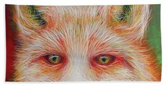 Hand Towel featuring the painting Foxy-loxy by Angela Treat Lyon