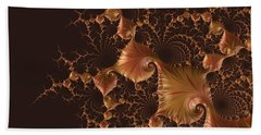 Bath Towel featuring the digital art Fractal Alchemy by Susan Maxwell Schmidt