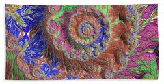 Fractal Garden Bath Towel by Bonnie Bruno