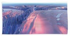Fractal Glacier Landscape Hand Towel