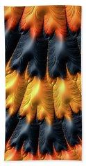 Hand Towel featuring the digital art Fractal Pattern Orange And Black by Matthias Hauser