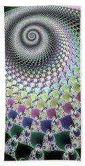 Hand Towel featuring the digital art Fractal Spiral Hypnotizing Op Art by Matthias Hauser