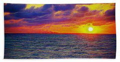 Bath Towel featuring the photograph Fractal Sunset by Patti Whitten