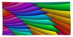 Fractalized Colors -8- Bath Towel