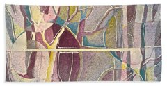 Fractured Hand Towel by Carolyn Rosenberger