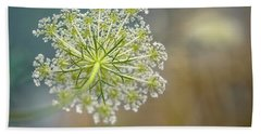 Fragile Dill Umbels On Summer Meadow Bath Towel