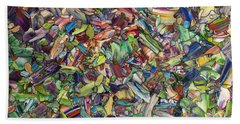 Bath Towel featuring the painting Fragmented Spring by James W Johnson