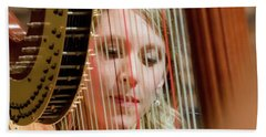 Framed By A Harp Hand Towel