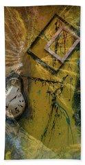 Framed Time Hand Towel by Kevin Blackburn