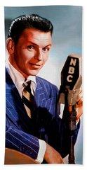 Frank Sinatra Hand Towel by Kai Saarto