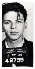 Frank Sinatra Mug Shot Vertical Hand Towel by Tony Rubino