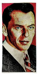 Frank Sinatra Pop Art Hand Towel by Mary Bassett
