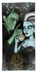 Frankenstien Fantasy Art Bath Towel