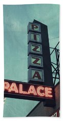 Bath Towel featuring the photograph Frank's Pizza Palace by Joel Witmeyer