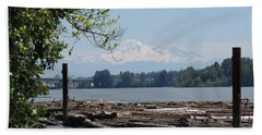 Fraser River And Mount Baker Bath Towel