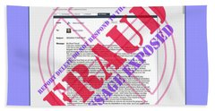 Hand Towel featuring the digital art Fraud Email Exposed by Barbara Tristan