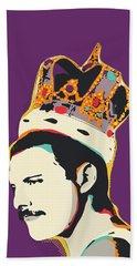 Freddie Mercury Pop Art Quote Hand Towel