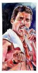 Freddie Mercury Singing Hand Towel