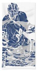 Frederik Andersen Toronto Maple Leafs Pixel Art 1 Hand Towel