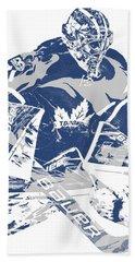 Frederik Andersen Toronto Maple Leafs Pixel Art 2 Bath Towel