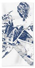 Frederik Andersen Toronto Maple Leafs Pixel Art 4 Bath Towel