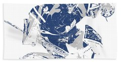 Frederik Andersen Toronto Maple Leafs Pixel Art 5 Bath Towel