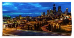 Freeway 5 North To Seattle Hand Towel